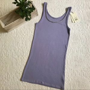 A New Day periwinkle embellished tank